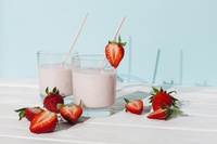 Milk-shake fruits rouges