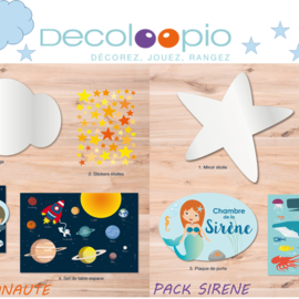 5 packs déco Decoloopio